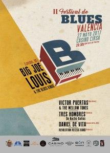 Cartel del II Festival de Blues de Valencia 2017