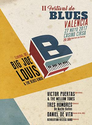 Cartel del II Festival de Blues de Valencia | 2017